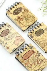 sale - Kawaii Ring Line Note Book - World Trip