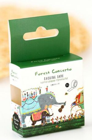 Photo1: Kawaii Bentoto Washi Masking Tape - Forest Concerto