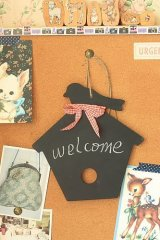Lovely Animal Wooden Chalk Board with ribbon