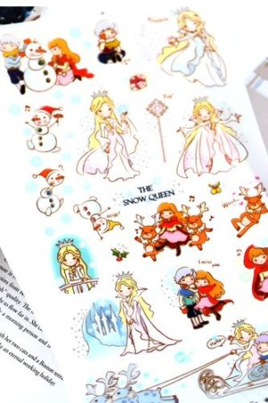 Photo1: Kawaii Korean Funny Fairy Tale Story Sticker Set - Snow Queen