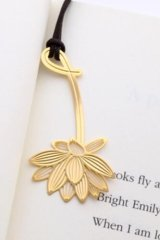 Kawaii Copper Plating Plant Bookmark