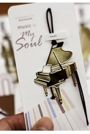 Photo1: Kawaii Copper Plating Music Bookmark