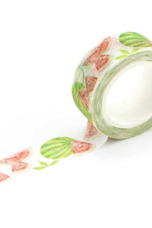 Photo1: Kawaii Washi Masking Tape - Water Melon