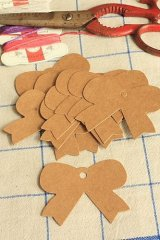 Kraft paper custom tags gift tags product tags Handmade tags DIY tags - Bow