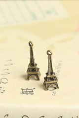 SALE-Antique Style Bronze Charms - little tower