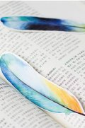 Kawaii Paper Bookmarks - Feather