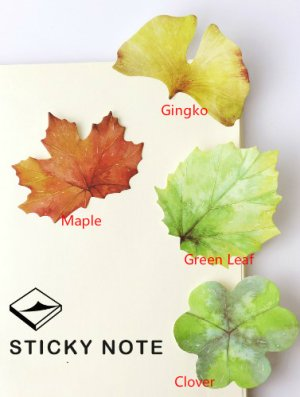 Photo1: Kawaii Sticky Notes Memo Leaves
