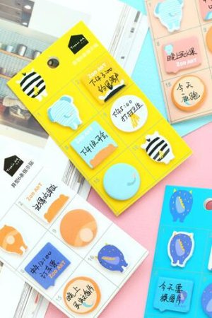 Photo1: SALE - Kawaii Sticky Planner Marker Memo Notes Bookmark - animal ass