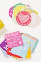 SALE - Lovely Paper Label Sticker Box -  Nice to Meet You Messages