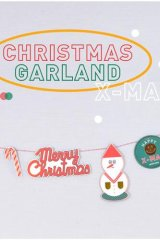 SALE - Kawaii Decorative Pattern Garland - Christmas