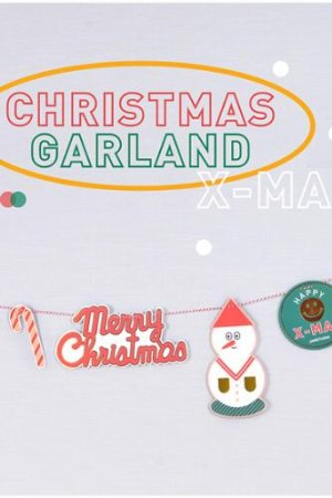 Photo1: Kawaii Decorative Pattern Garland - Christmas