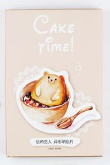Kawaii Post Card Set - Cake Time (die cut)