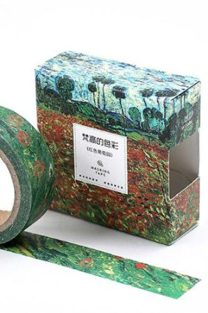 Photo1: Kawaii Washi Masking Tape - Vincent van Gogh - Poppy Field