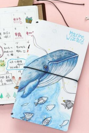 Photo1: new Kawaii Planner Organizer Note Book - Whale