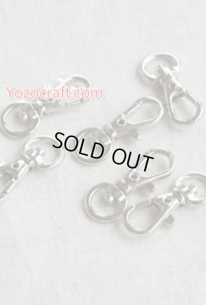 Photo1: Inside Width 1.0cm - Silver Swivel Trigger Lobster Claw Clasp Snap Hook