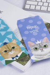 Kawaii Slim Envelope Set - Cat (random pattern)