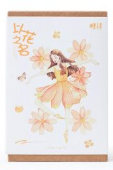 Kawaii Post Card Set - Name of Flower