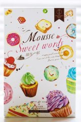 Kawaii Post Card Set - diecut Mousse Sweet