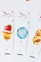 Kawaii Paper Bookmarks - Mousse Sweets