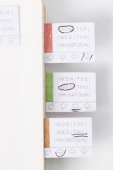 SALE - Lovely Planner Paper Label Sticker Box -  DIY date seal