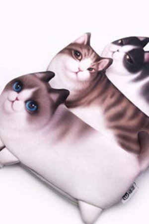 Photo1: Lovely Zipper Coin Purse Female Wallet Pouch - Cats