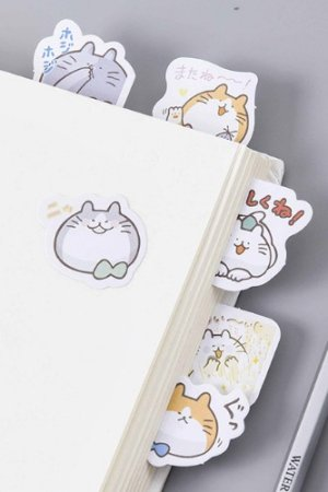 Photo1: Lovely Planner Paper Label Sticker Box -  Fat Fat Cats