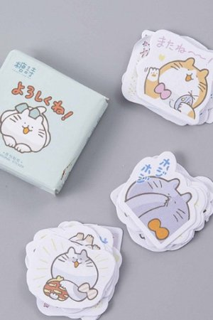 Photo2: Lovely Planner Paper Label Sticker Box -  Fat Fat Cats