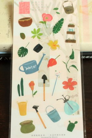 Photo1: SALE - Kawaii DIY Planner Sticker Set - Garden Diary