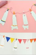 Kawaii Party Decorative Flags Garland - Alpaca