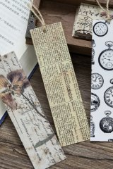 Kawaii Paper Bookmarks - retro style