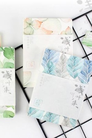 Photo1: new Kawaii Planner Drawing Note Book - Beautiful Leaves