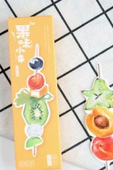 Kawaii Paper Bookmarks - Fruit Kebab