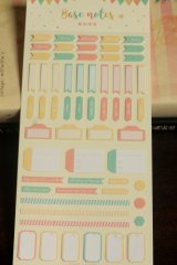 SALE - Vintage Style Planner Sticker Set - Base Notes