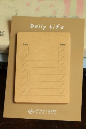 Photo1: Kraft Paper Sticky Notes Memo - Daily Life - Time
