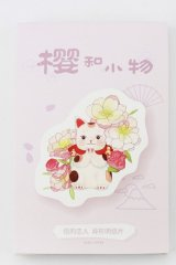 Kawaii Post Card Set - Japanese Flower Items