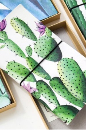 Photo1: Kawaii Planner Organizer Note Book - Plant - Cactus