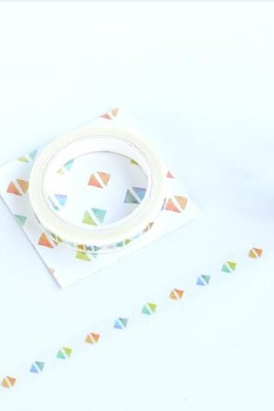 Photo1: SALE - Kawaii Slim Washi Masking Tape - Water Color Triangle