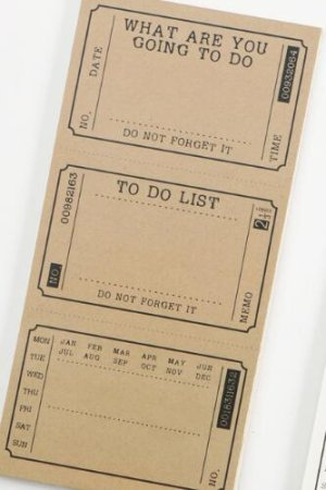 Photo1: Cool Message Notes Book Memo - Vintage Pattern Kraft Paper