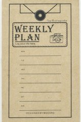 Kraft Paper Retro Notes Memo - Weekly Plan