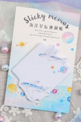 cute Paper Sticky Notes Memo - Flying Fish