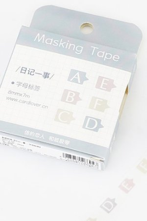 Photo1: Kawaii Planner Washi Masking Tape - Diary Series - Letter Label