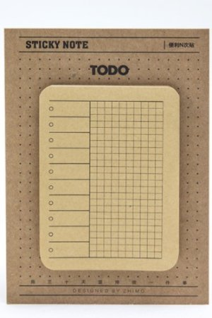 Photo1: Kawaii Kraft Paper Planner Sticky Notes Memo - To Do List
