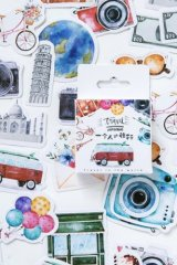 Lovely Planner Paper Label Sticker Box - Travel Alone