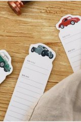 Kawaii Paper Bookmarks - retro cars