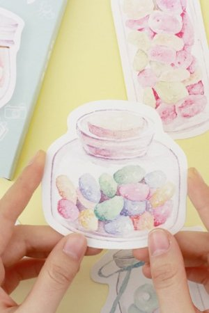 Photo1: Kawaii Post Card Set - diecut Sweets Party