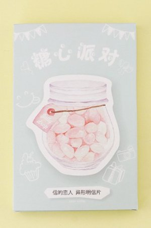 Photo2: Kawaii Post Card Set - diecut Sweets Party