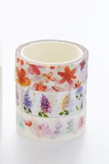 super Kawaii Planner Supplies Washi Masking Tape - Love Flowers