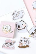 Lovely Planner Paper Label Sticker Box - Big Eyes Cute Cat