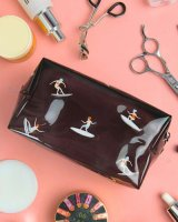 cute Transparent PVC Cosmetic Bag - surfing