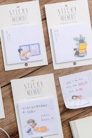 Photo1: Kawaii Sticky Notes Memo - With You Everyday